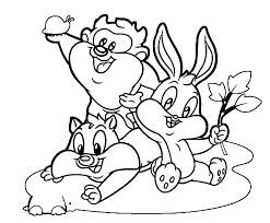 baby looney tunes coloring pages coloring