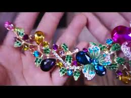 big crystal statement necklace images Beautiful colourful large hamer women 39 s multi color big crystal jpg