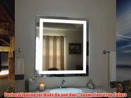 lighted vanity mirror wall mount wall mounted lighted vanity mirror led mam83640 commercial grade 36w