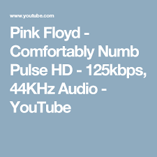 Comfortably Numb Orchestra Pink Floyd Comfortably Numb Pulse Hd 125kbps 44khz Audio