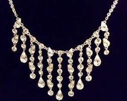 Diamond Chandelier Necklace Vintage Chandelier Necklace Etsy