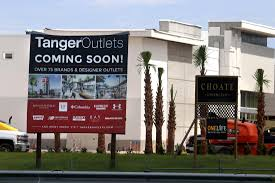 tanger time outlet mall nears completion job fair wednesday