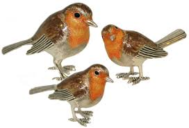 saturno silver and enamel robin bird ornaments connard ltd