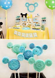 Birthday Table Decorations by Creative Mickey Mouse 1st Birthday Party Ideas Free Printables