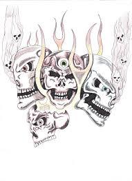 flaming skulls by tat2dadx3 on deviantart