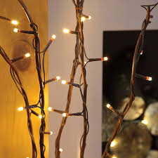 5 decorative willow twig lights 50 warm white leds 87cm