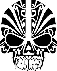 tribal skull cranium designs