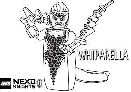 whiparella coloring printable sheet lego nexo knights