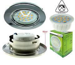 Led Light Bulb Mr16 by Trango Pack Of 6 Decorative Chrome Ring For Gu10 Halogen Bulbs