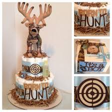 born to hunt 2 tier diaper cake with plush topper http www