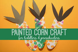 toddler approved painted corn craft for toddlers