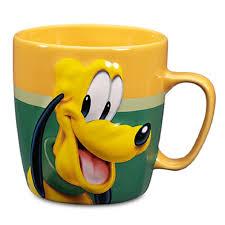 amazon com disney store pluto coffee mug cup bright gold green