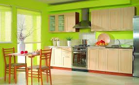 Yellow And Green Kitchen Ideas Ravishing Green Wall Painted Kitchen Decor With Maple Wood Kitchen