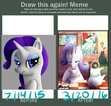 Draw It Again Meme - draw this again meme rarity by meepars on deviantart