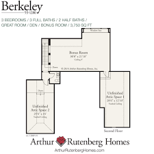 Second Floor Plans Home Berkeley 1280f Classic Plan Collection