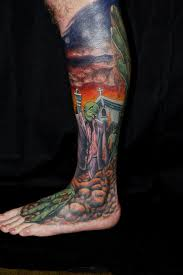 4everutat2 color tattoo day of the dead tattoo surrealism