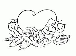 coloring roses and hearts coloring pages wallpaper download