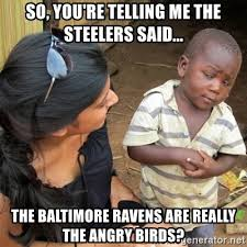 Ravens Steelers Memes - so you re telling me the steelers said the baltimore ravens are