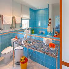 floor and decor orange park bathroom top blue and orange bathroom decor color ideas
