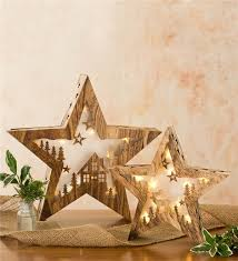 large wooden lighted table wind weather