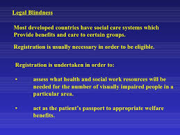 Legally Blind Test The Definitions And Demographics Of Low Vision