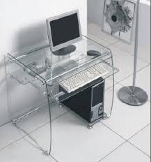 Black Glass Computer Desk Boxey Clear Glass Computer Desk Desks Sliding Shelves And Glass