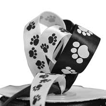 paw print ribbon animal print ribbon shop paper mart s selection