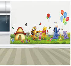 Removable Wall Decals For Baby Nursery by White Themed Sweet Kids Wall Decor Ideas With Cute Winnie The Pooh