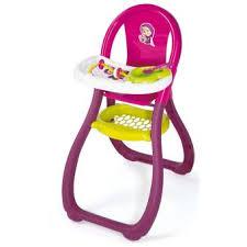 chaise haute poup e chaise haute pour poupée macha smoby accessoire poupée