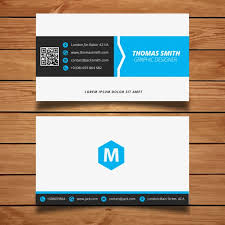 corporate minimal black and blue business card template free