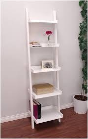 Leaning Shelf Bookcase 3 Piece White Leaning Ladder Bookshelf With Laptop Desk White