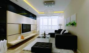 indoor simple family room interior design with large area which