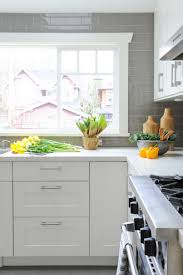 Grey Kitchen Backsplash Thermofoil Kitchen Cabinets Tags Cool Contemporary Kitchen