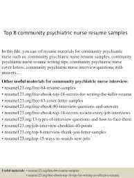 Resume For Triage Nurse Psychiatric Nurse Cover Letter Community Psychiatric Nurse Sample