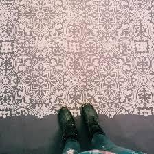 anatolia tile stencil painted concrete floors paint concrete