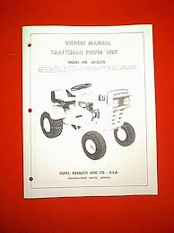 sears craftsman 10 tractor model 1318570 0wner u0026 039 s with parts