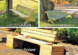 panchine legno panchine in legno f lli aquilani arredo giardino progettazione
