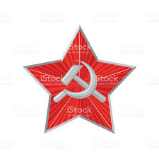 Gold Star Flag The Military Soviet Star With Hammer And Sickle Stock Vector Art
