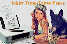 inkjet printable temporary tattoo paper u0026 kits