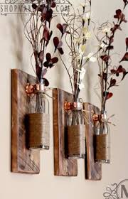 Wall Sconces Rustic Wooden Candle Holder Rustic Wall Sconce Mason Jar By Covedecor