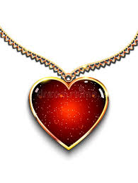 long red heart necklace images Heart shaped pendant on necklace vector illustration of heart jpg