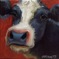Goat Home Decor Cow Art Small Oil Painting Home Farm Kitchen Decor Cute Animals