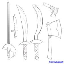 how to draw anime swords step by step drawing art u0026 skethes