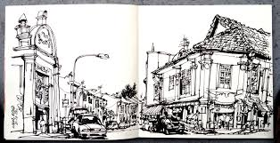 throwback posting an old sketch of neil road done in 2012 urban