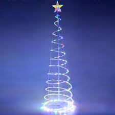 Color Changing Christmas Trees - 5 u0027 ft color changing christmas xmas led spiral tree light battery