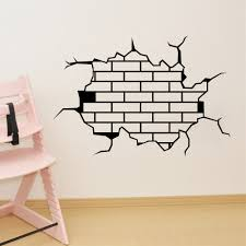 removable funny crack wall stickers room mural decals diy home productpicture