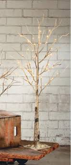 lighted birch tree lighted display tree brown twig 42 h lighted display trees