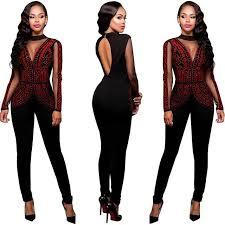 sleeve sequin jumpsuit 2018 wholesale sequin sleeve jumpsuit autumn