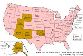 map us expansion u s map in 1890 showing development of statehood american