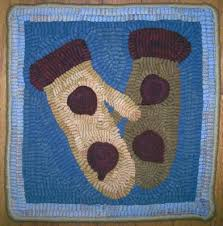 Rug Hooking With Yarn Finsihed Works Hooked And Punched By Sally Van Nuys